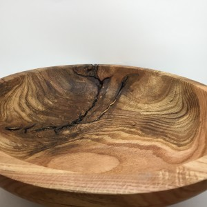 Black Oak Burl Display Bowl