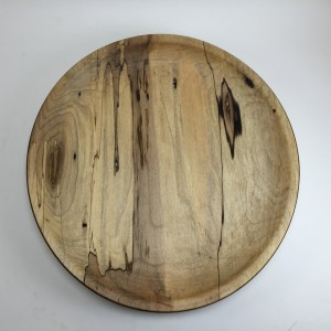 Spalted Cottonwood Cheese / Flake Plate