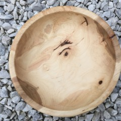 Rugged Maple Burl Fruit Bowl